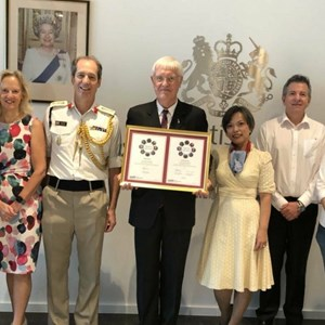 SSAFA Thailand Chairman Mark Watson receives Armed Forces Charity Award